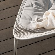 Detail of Luna outdoor chair by Charles Wilson for King Living