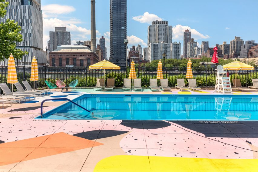 The Hand-Painted Alex Proba Swimming Pool Mural In Manhattan