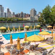 The Manhattan pool's colourful mural by Alex Proba