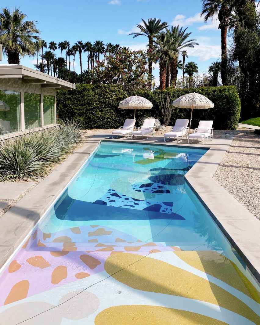 The Hand-Painted Swimming Pool At Marrow House By Alex Proba