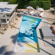 The Marrow House pool painted by Alex Proba