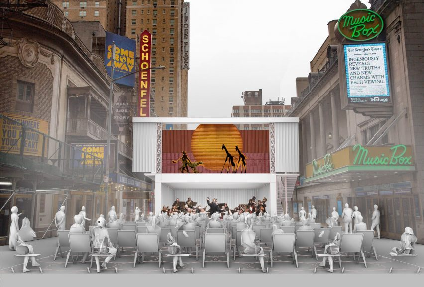 Shipping container theatre concept by Marvel