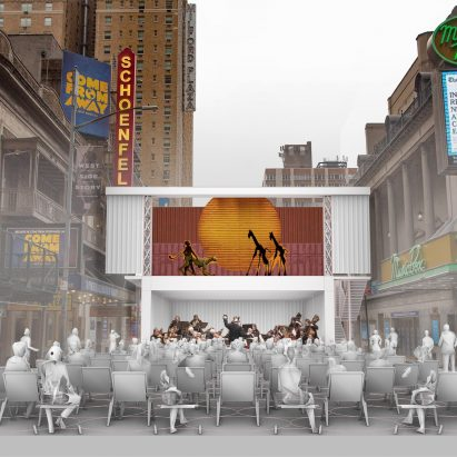 Pop-up theatre concept by Marvel