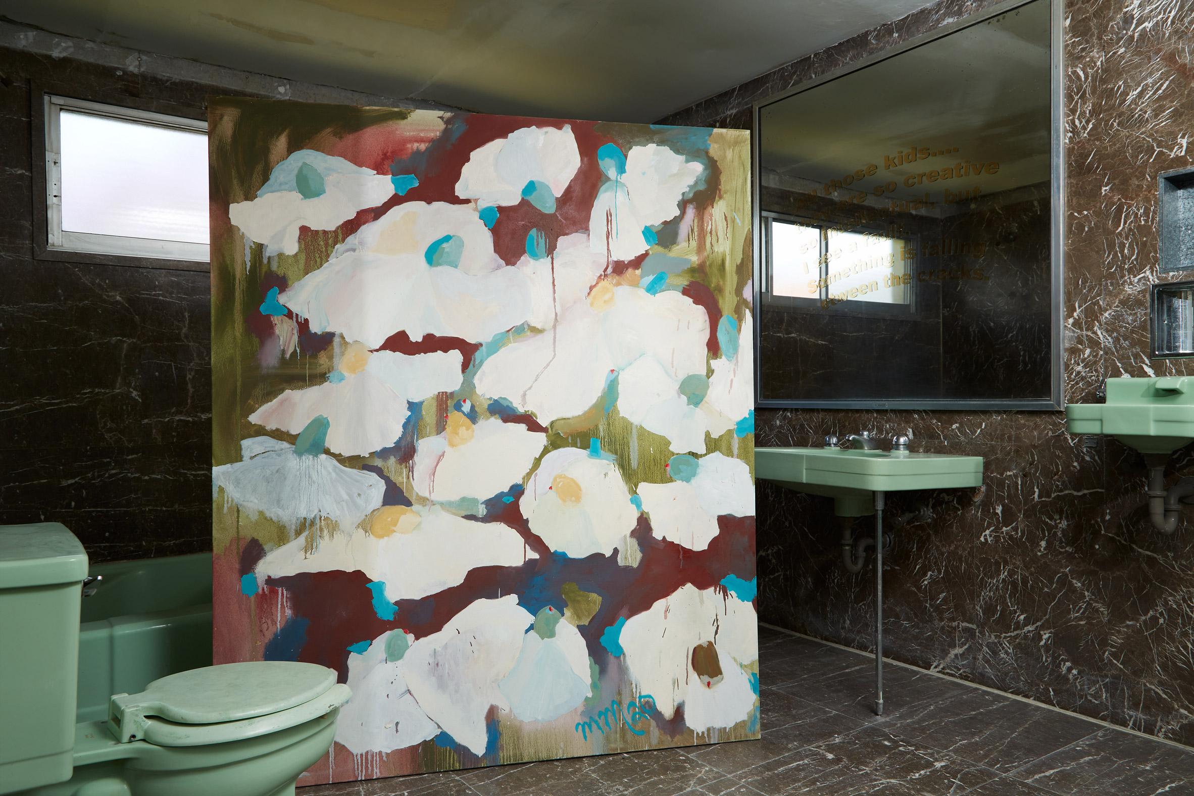 The bathroom of the house