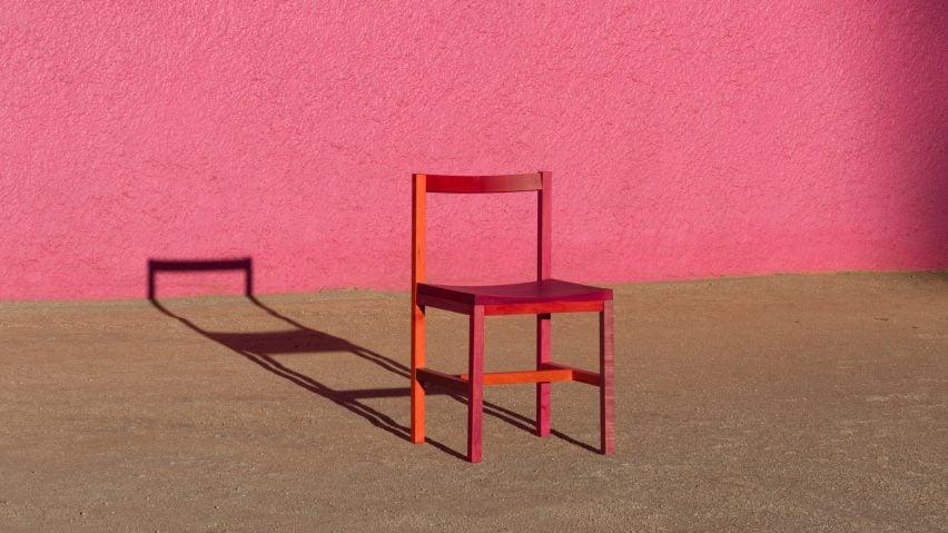 Multicoloured chair by Moisés Hernández