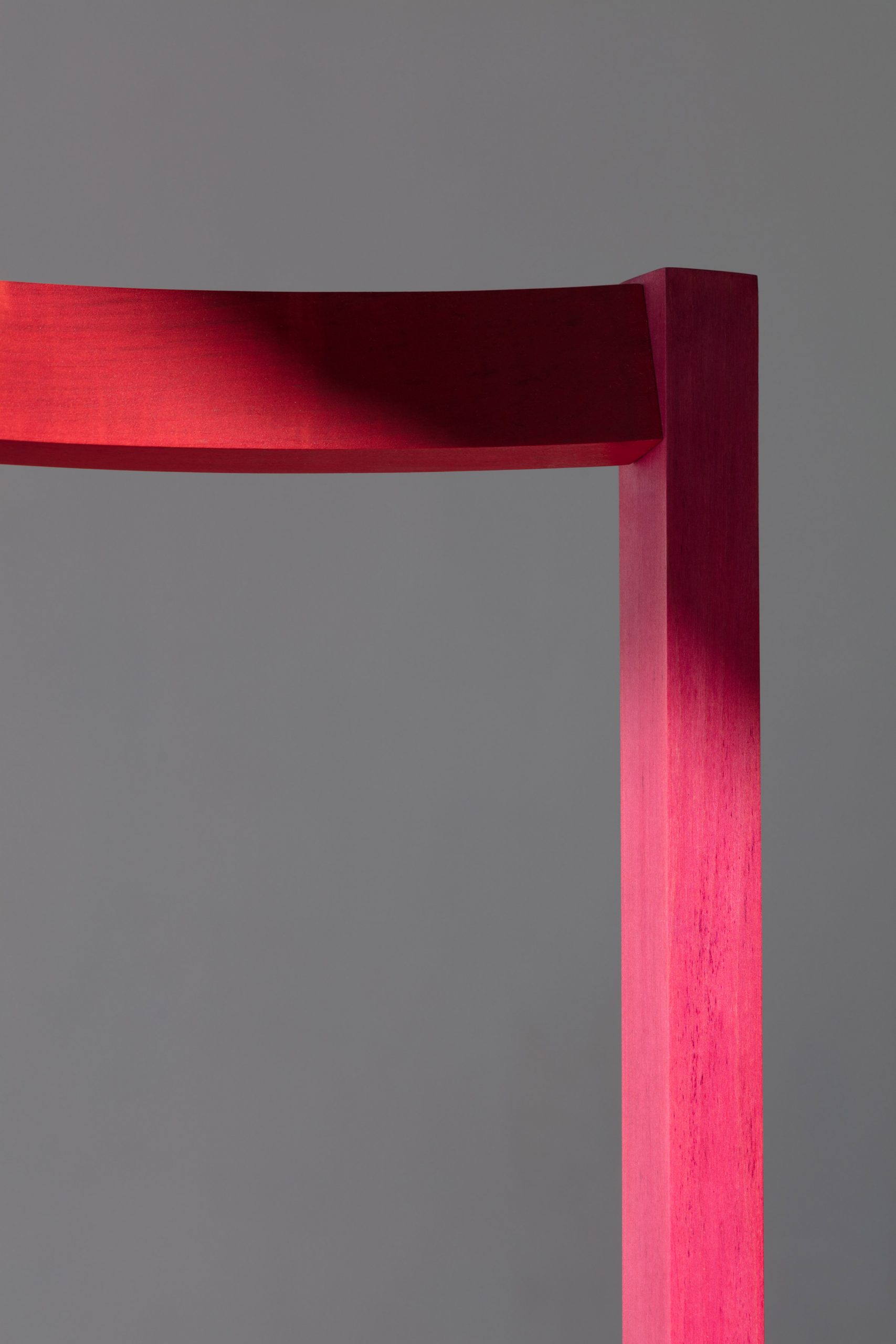 Close up of different colours created by cochineal in chair by Moisés Hernández