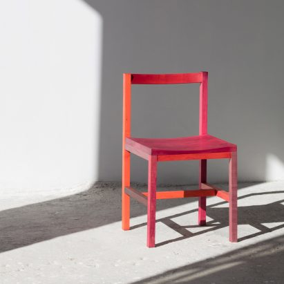 Multicoloured chair by Moisés Hernández