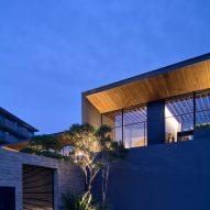 Light reflects off the veranda