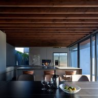 The upper level home also boasts an open plan design