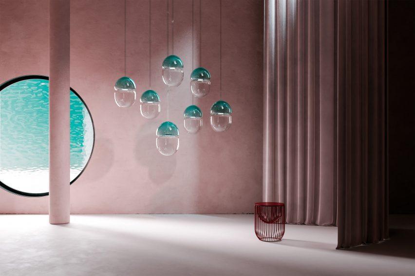 Render of the Dew & Drop light in an interior