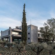 "Georges Batzios Architects restores ""original brutalist identity"" of abandoned office in Greece"