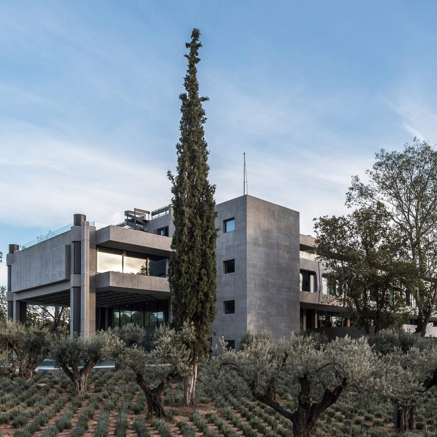 A brutalist office in the suburbs of Athens