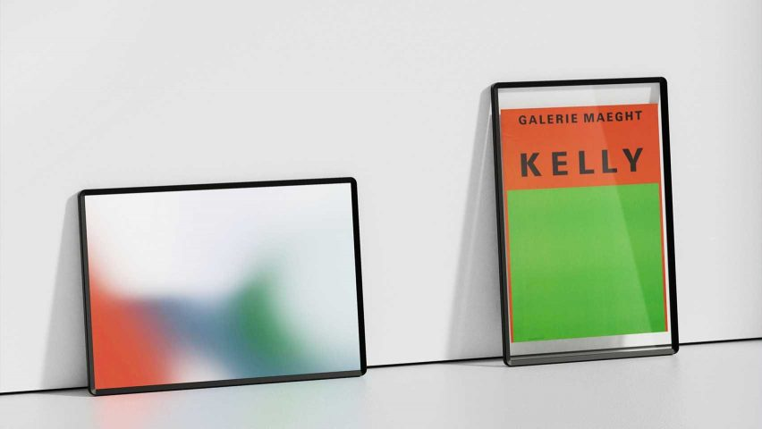 ON&ON by Romain Voulet picture frame TV on the Dezeen and LG Display shortlist