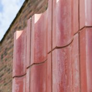 Pink concrete cladding