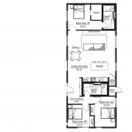 An example of one of the house's floor-plans