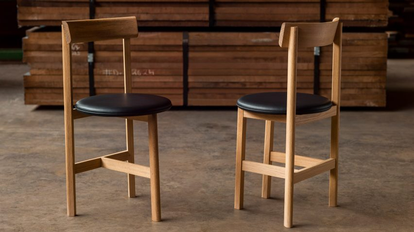 Two Petit dining chairs by Neri&Hu for De La Espada