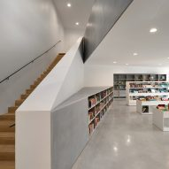 Concrete runs through the interior