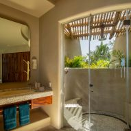 A bathroom with views