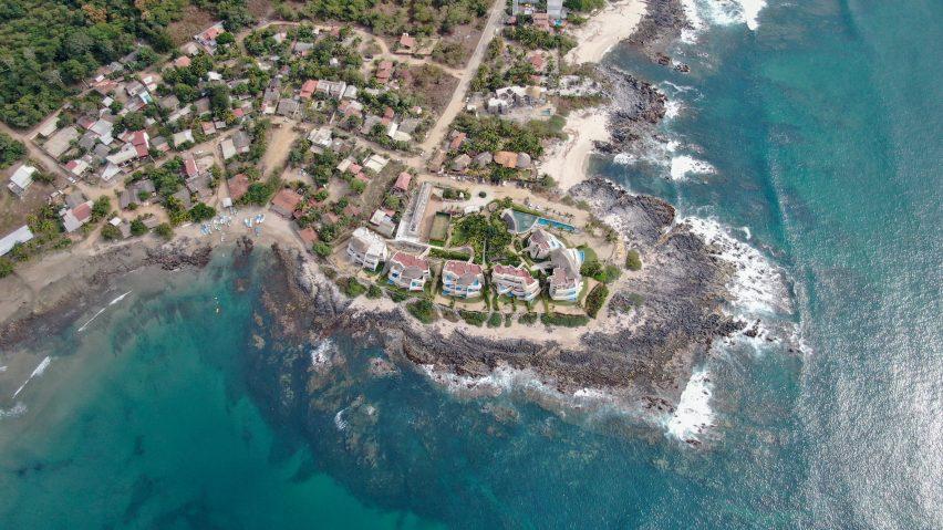 An aerial view of Punta Majahua
