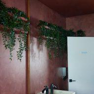 The darker bathroom in pink