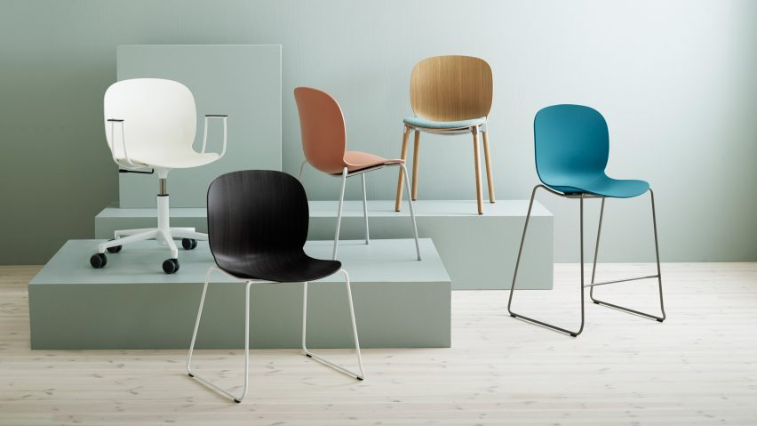 RBM Noor chairs by Flokk in different colours
