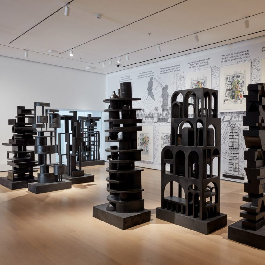 Black Towers/Black Power, Oakland, California, by Walter Hood at MoMA in Reconstructions: Architecture and Blackness in America