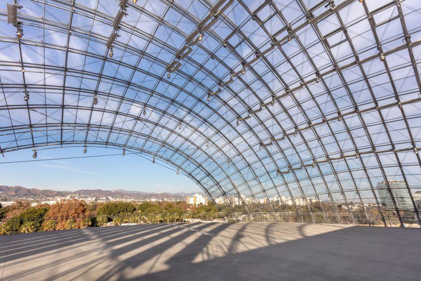 Glass dome of Acadamy Museum Sphere