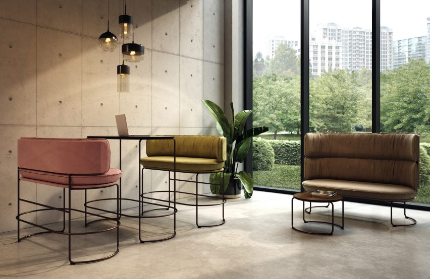 Ring sofas and tables by Vank in a meeting space