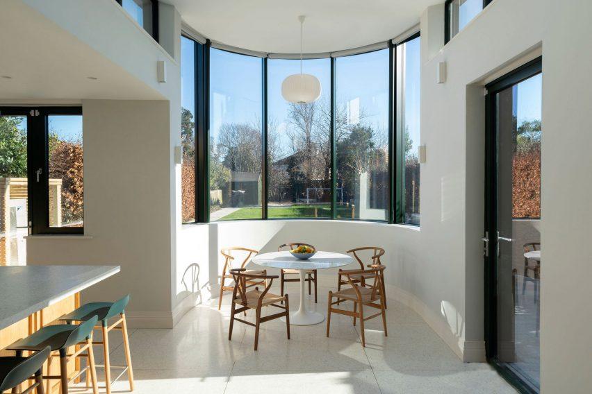 White kitchen diner interior by Scullion Architects