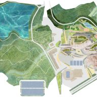 A site plan of the Shenzhen Conservatory of Music