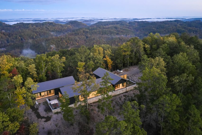 Aerial view of Short Mountain House in Tennessee