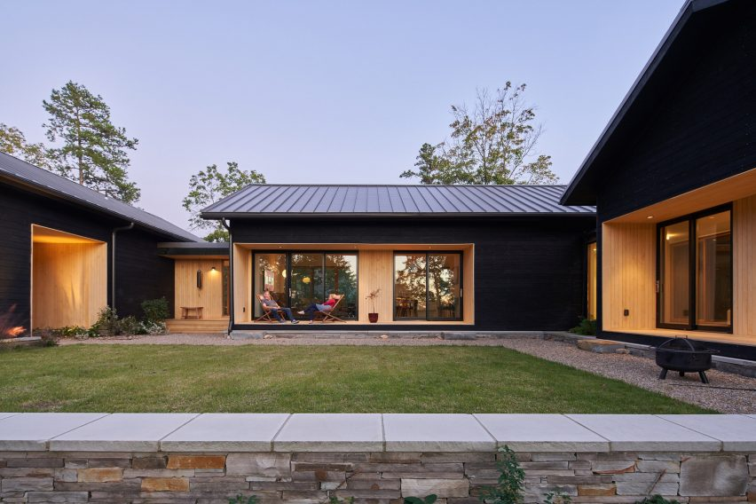 Porches on exterior of Short Mountain House in the USA