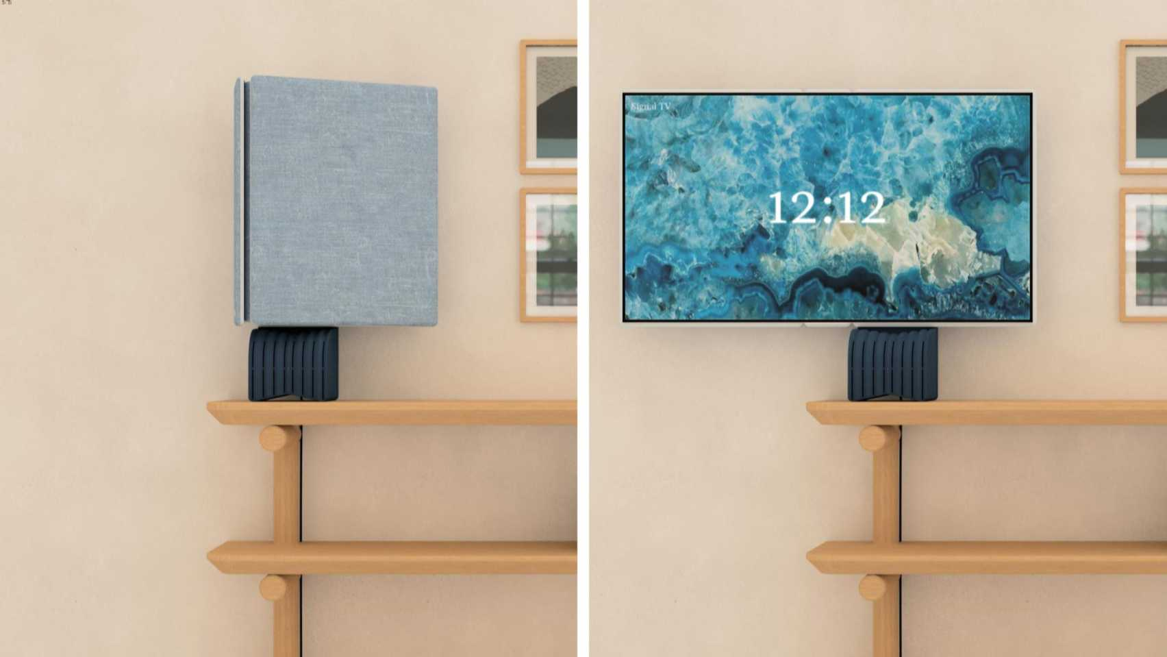 Signal by Jean-Michel Rochette folding TV on the Dezeen and LG Display OLED Go competition shortlist
