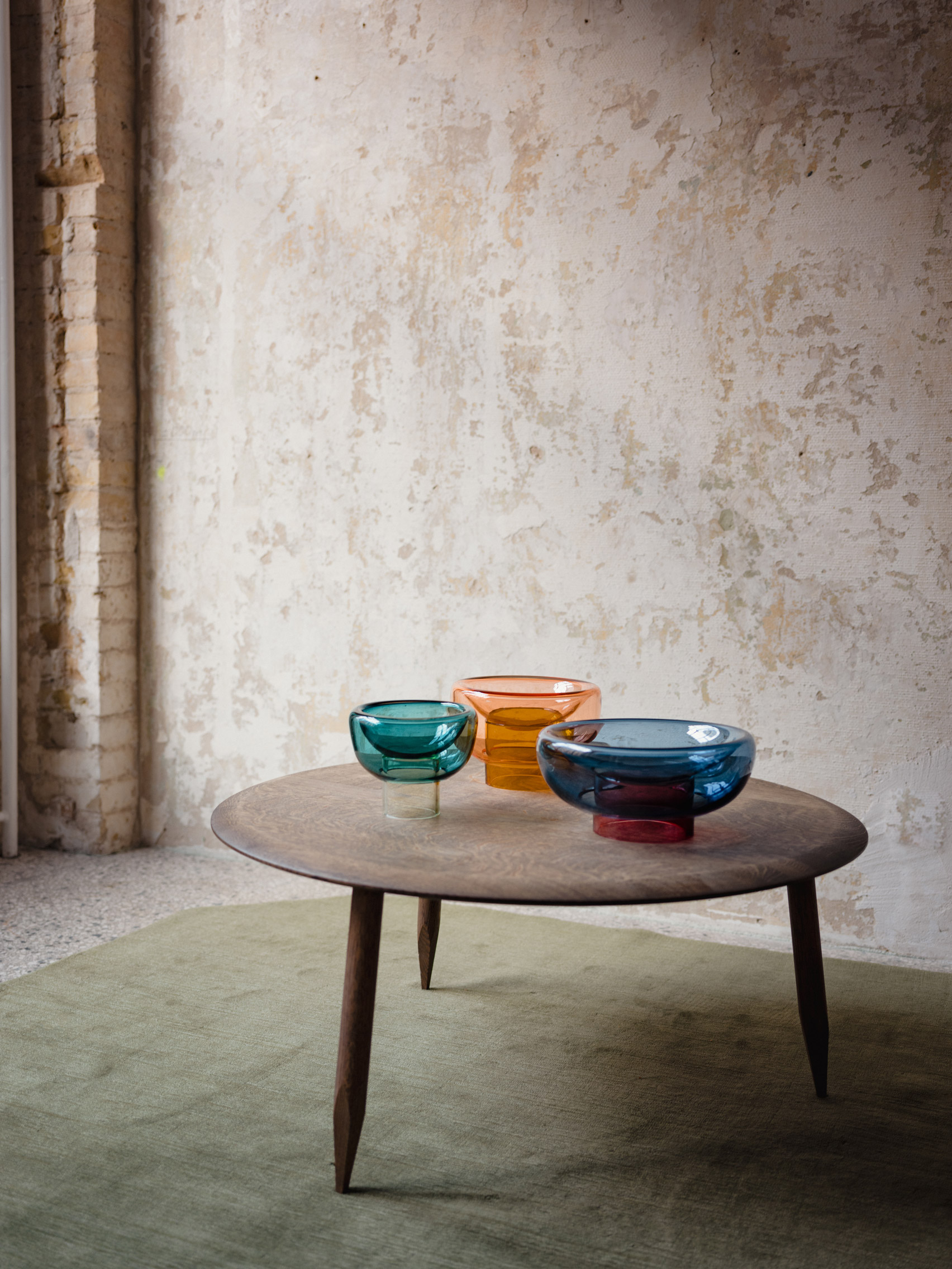 Milena Kling glass bowls for Studio Hausen