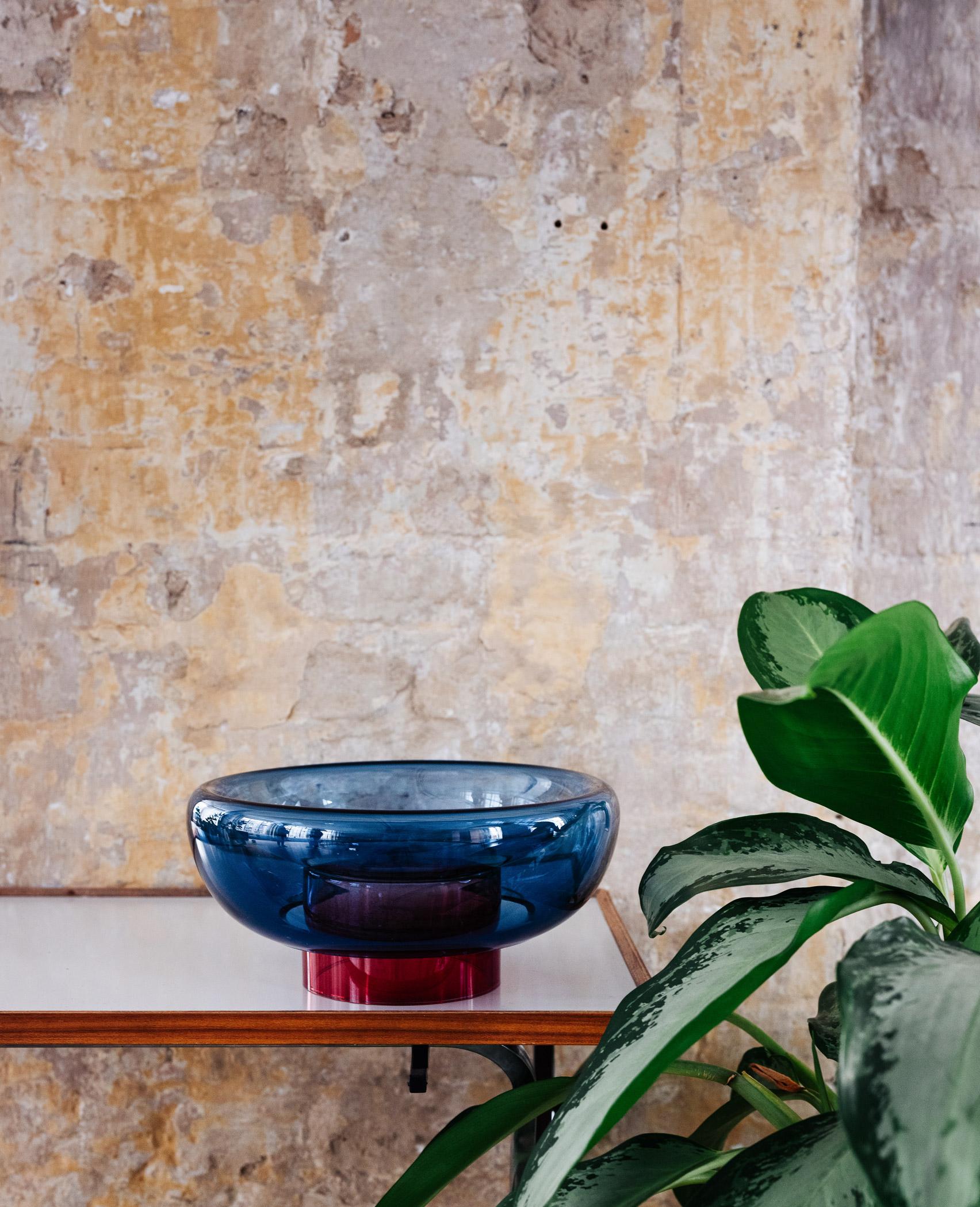 Close up of Milena Kling glass bowls