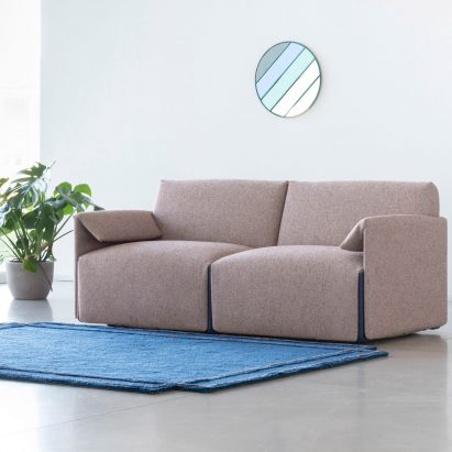 Costume sofa by Stefan Diez for Magis in a living room