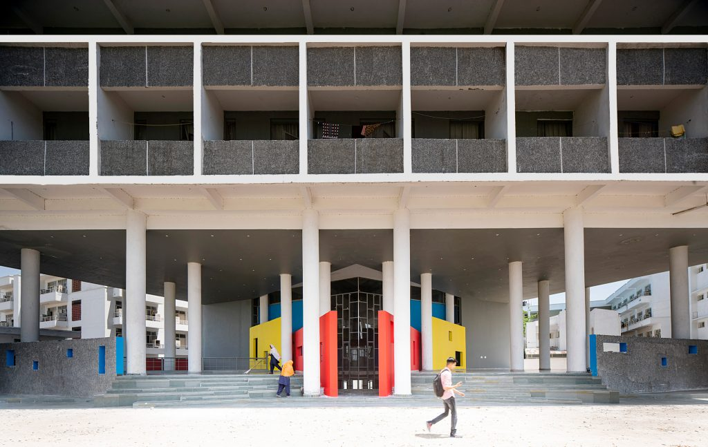 Charged Voids' Chandigarh student housing takes cues from Le Corbusier