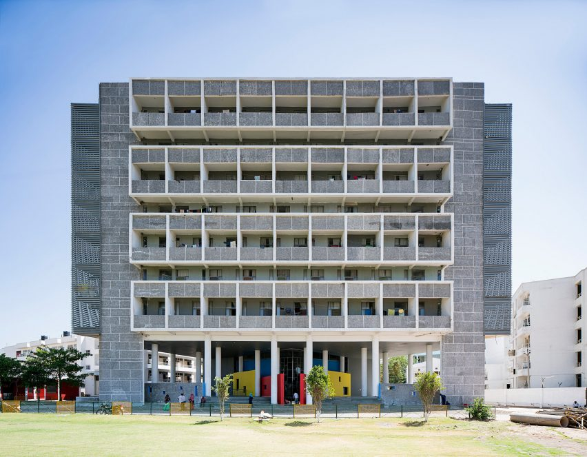 A student accommodation block in Chandigarh