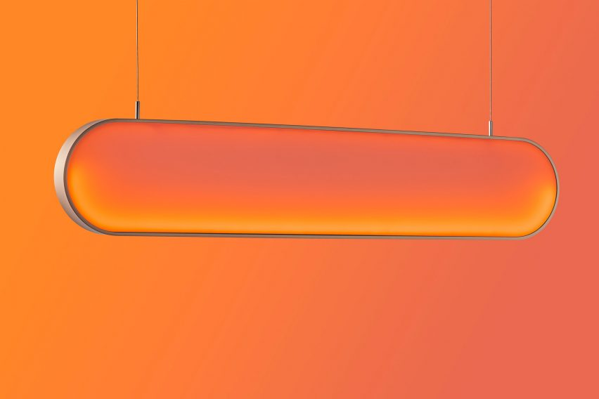 Solar light by Marjan van Aubel on the sunset setting