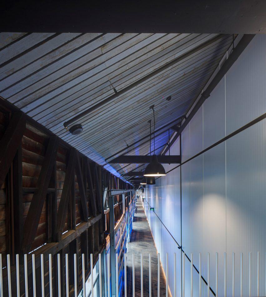 Back-of-house corridor in Sydney theatre