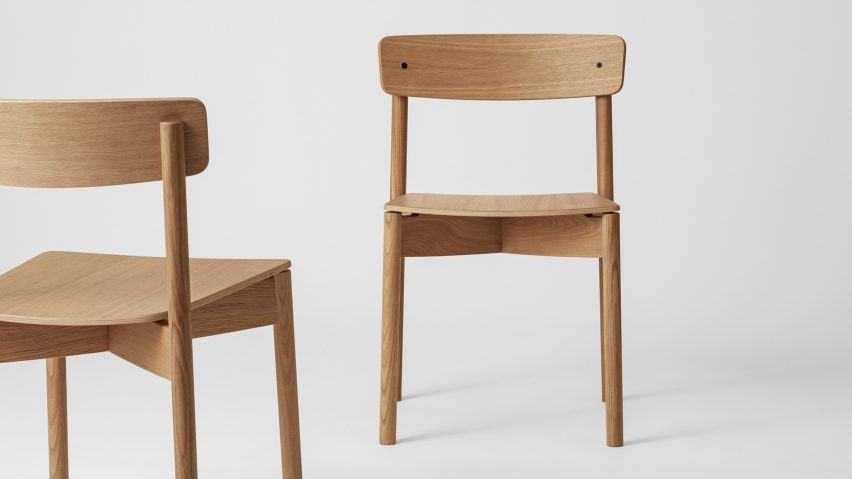Two Cross Chairs by Takt