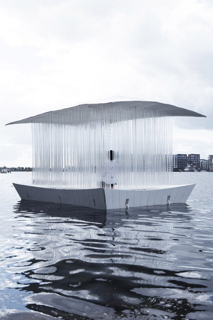 A floating pavilion in use in Denmark
