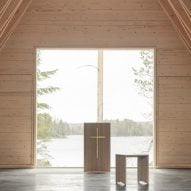 NOAN creates timber wedding chapel in Finnish woodland