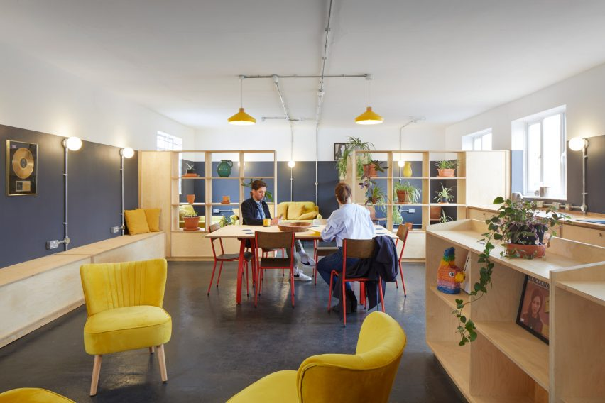 A colourful lounge inside The Axis music studios in London
