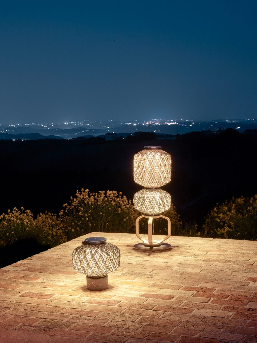 Ambient light omits from the lanterns by Stephen Burks