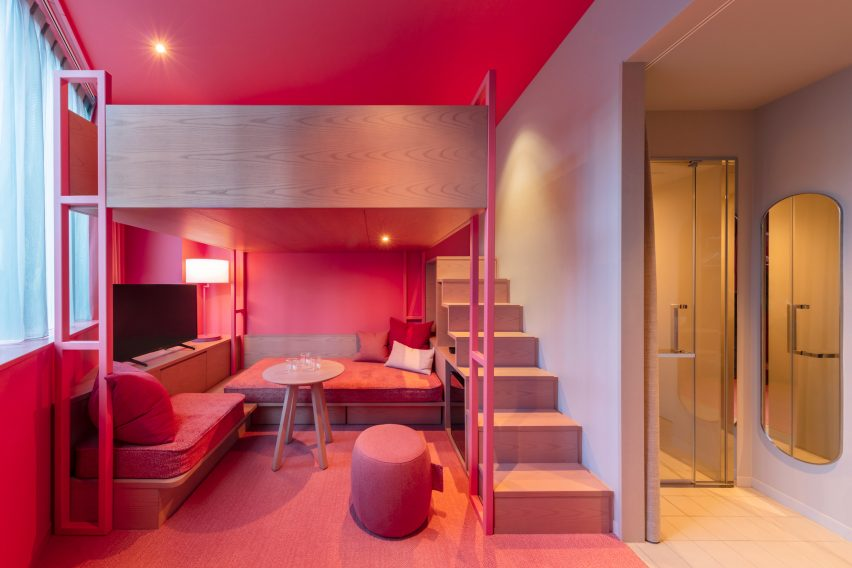 Colourful two-tone bedrooms