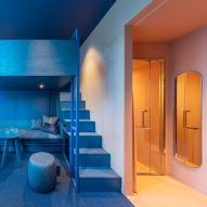 Klein Dytham Architecture creates colourful two-tone bedrooms for Tokyo's Toggle Hotel