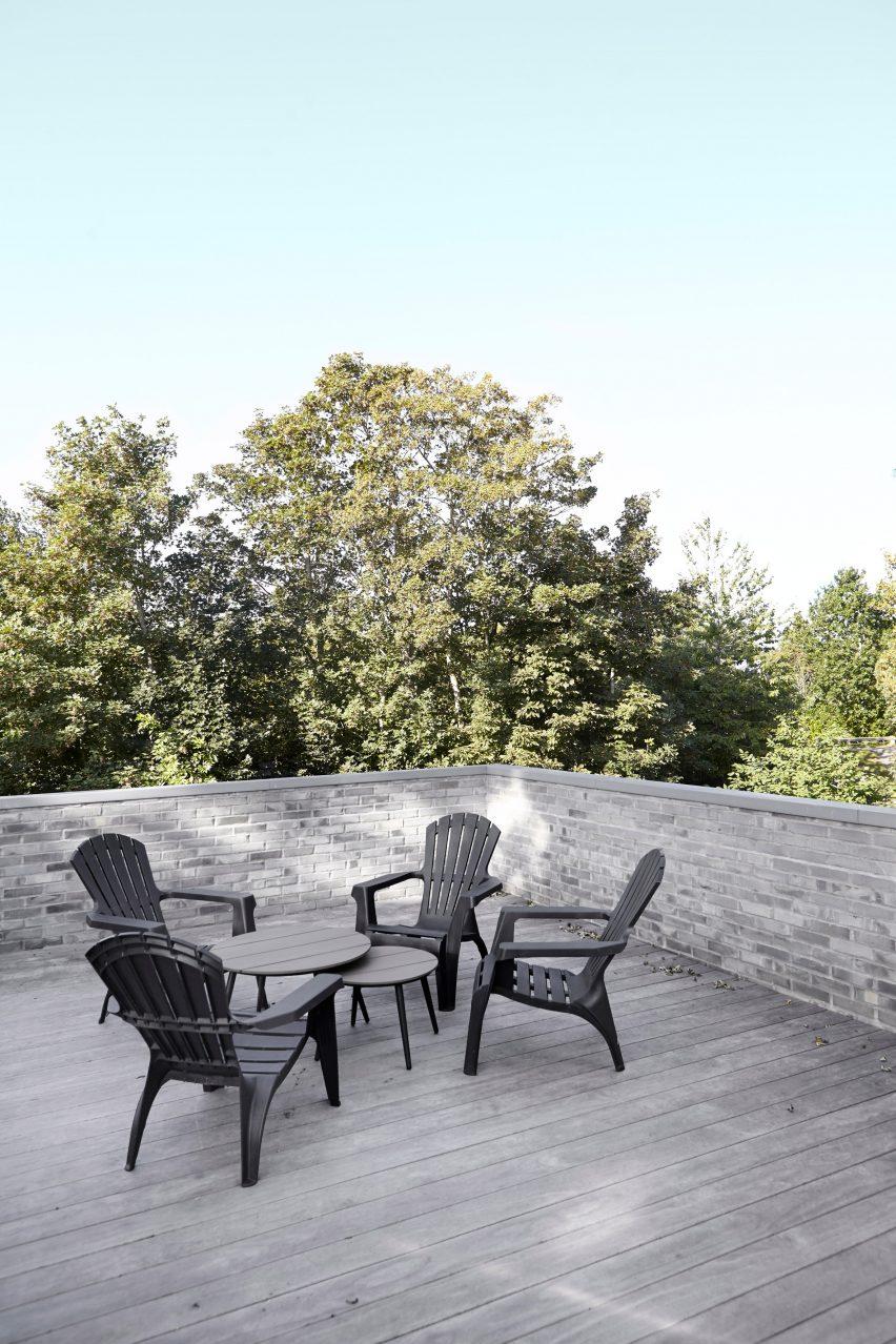 Roof terrace in Tommy Rand house in Denmark
