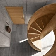 Tommy Rand's self-build house features a CNC-cut spiral staircase