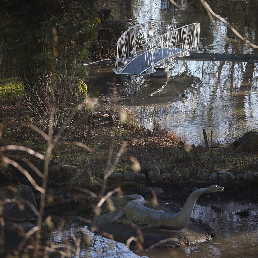 Tonkin Liu creates swing bridge to access Dinosaur Island in Crystal Palace Park